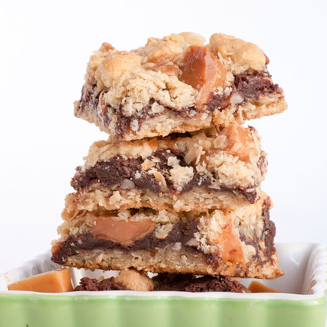 oatmeal, caramel, chocolate, pecans, bars, cookies