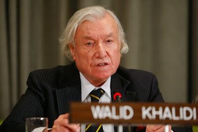 O professor Walid Khalidi nasceu em Jerusalém, Palestina, em 1925.