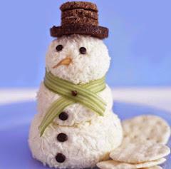 Receta de cocina : muñeco de nieve con queso.