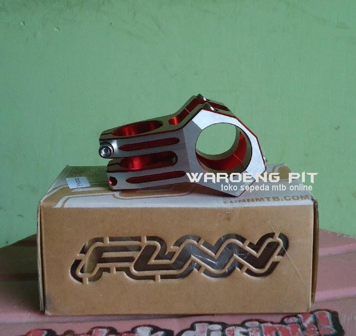 Jual stem funn merah silver sepeda mtb gunung downhill murah spareparts suku cadang accesories sepeda 2