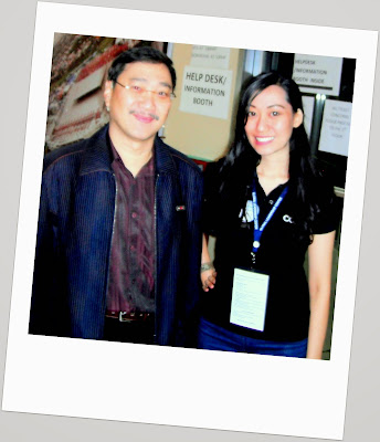 Trisha Sebastian with Rev Edmund Chan in In His Presence Leadership Conference