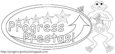 Gambar Sketsa Logo dan Maskot Progress Prestasi