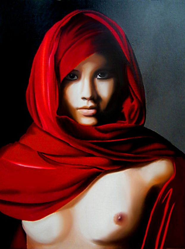 Red Dreams | Brita Seifert 1963 | German Fantastic/Surrealist painter