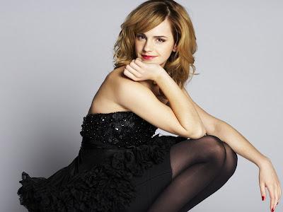 Emma Watson In Black Dress