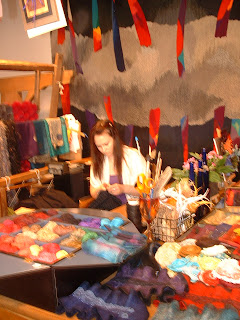 "Photo of ""Medieval woman"" in Textile studio"
