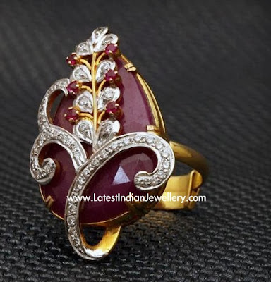 Diamond Jadau Ring