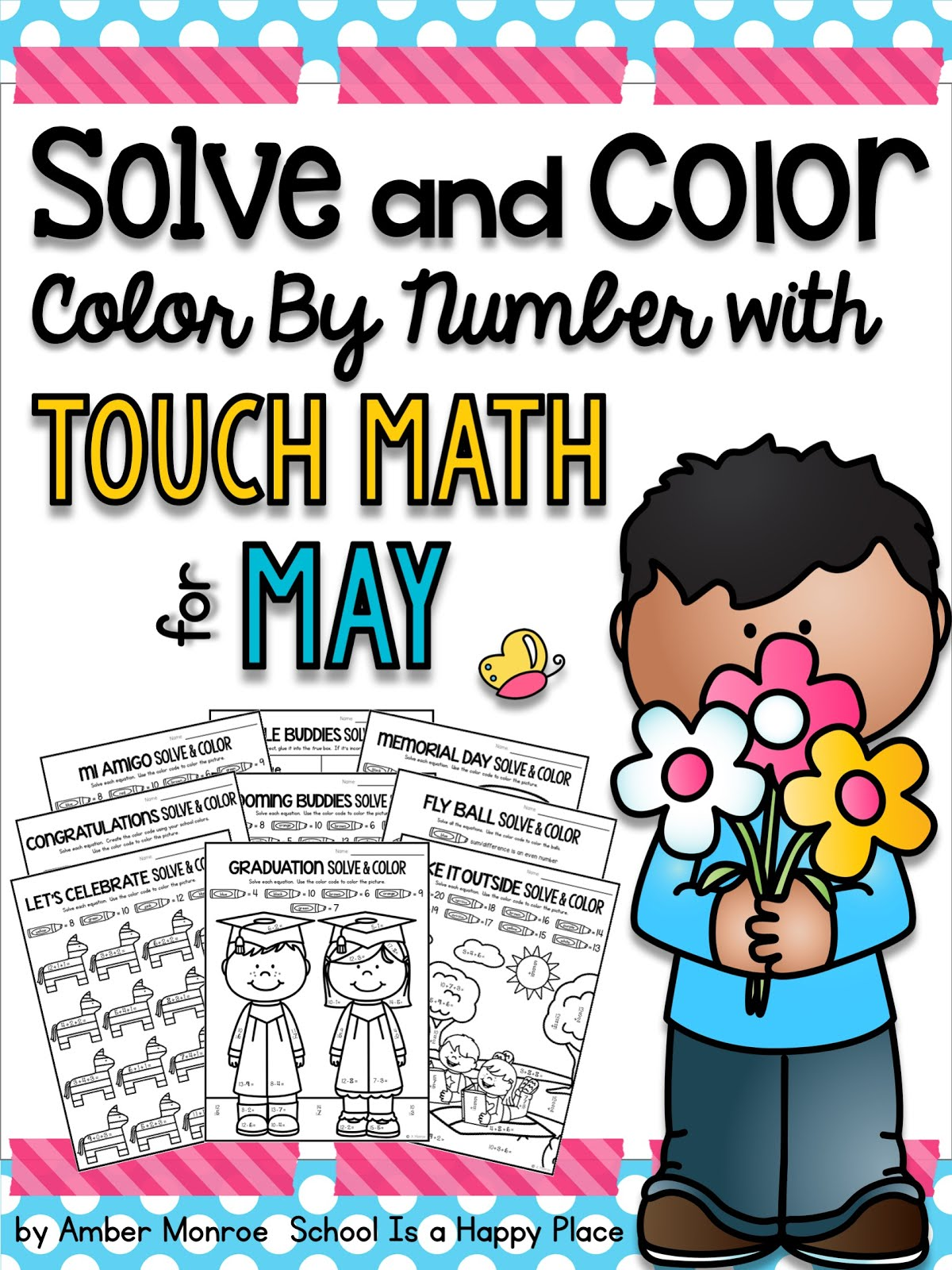 Touch Math Solve and Color for May