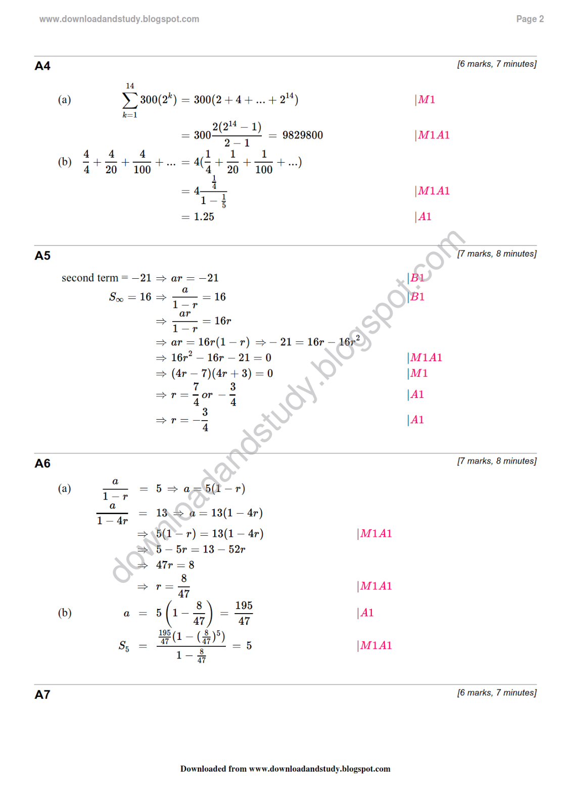 Worksheet Geometric Sequence Worksheet download study solution to as maths geometric sequence revision test worksheet