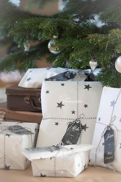 geschenkpapier stern, geschenkpapier selbst gemacht