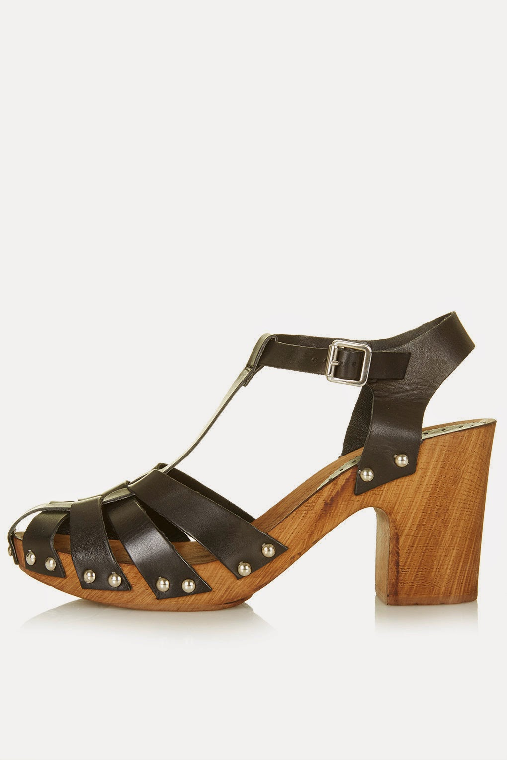 wooden heel black sandals, topshop wooden heeled shoes,