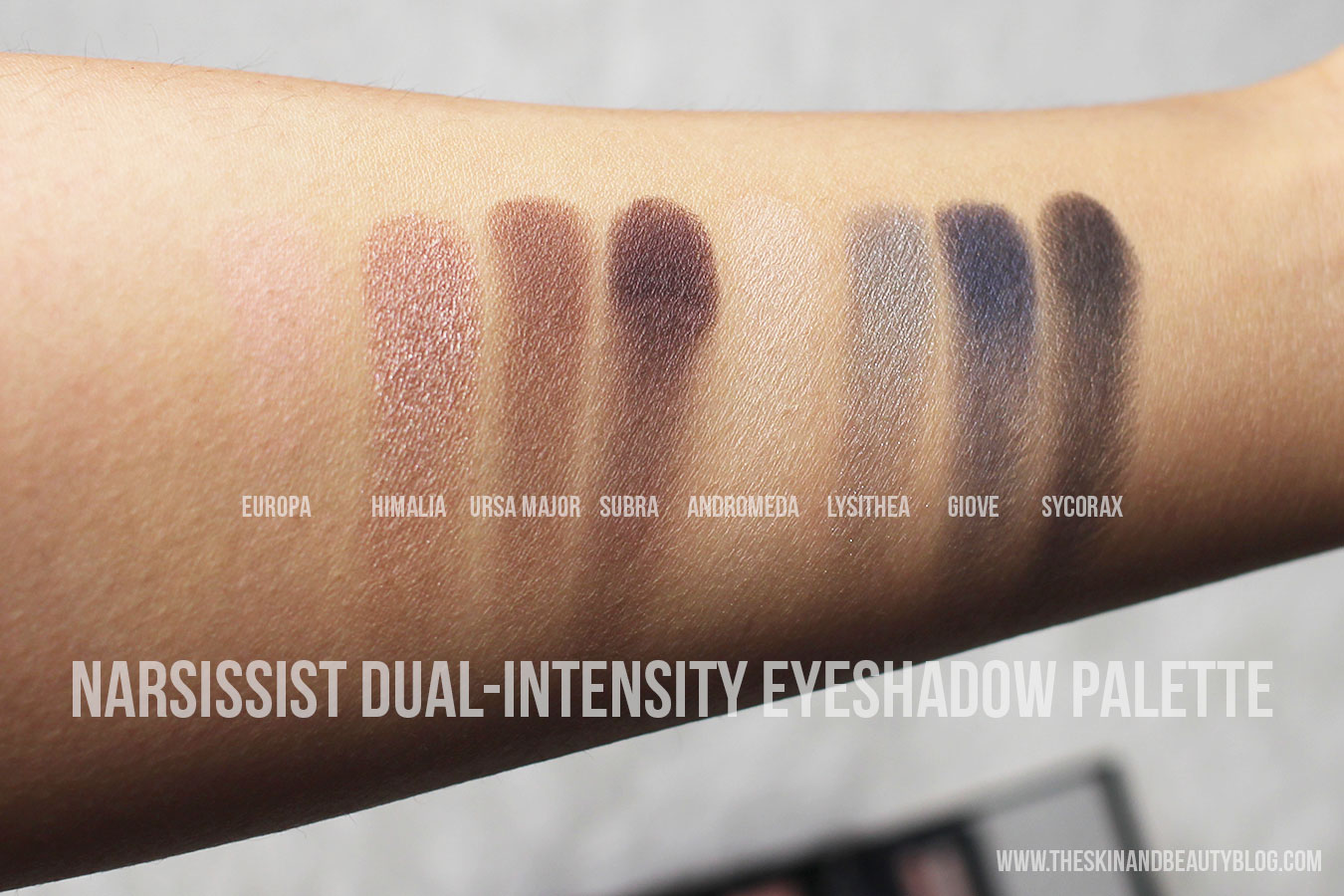 NARS NARSissist Dual-Intensity Eyeshadow Palette Review, Swatches