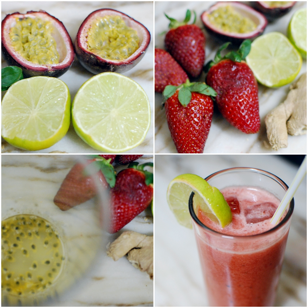 Sparkling Strawberry Lime Smoothie Recipe — Dishmaps