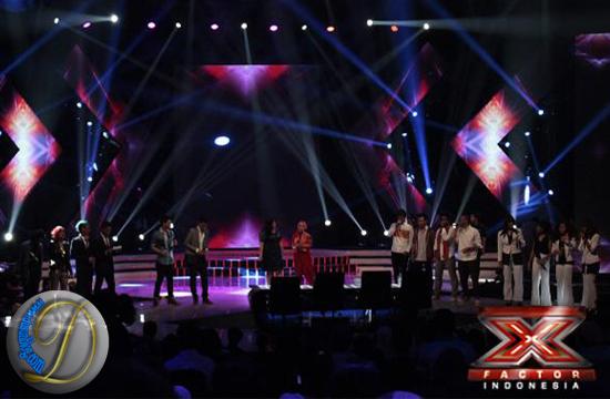judul lagu yang dinyanyikan 10 besar X Factor di Panggung Gala 4