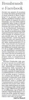 unione sarda rembrandt e facebook