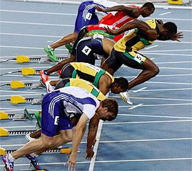 ATLETISMO-Bolt hace salida nula y Blake gana en los 100 m