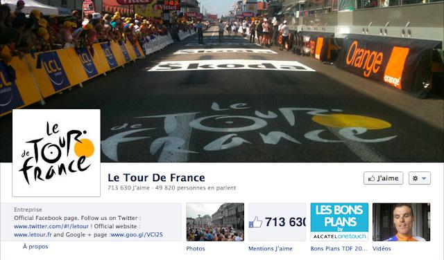 Page Facebook du Tour de France
