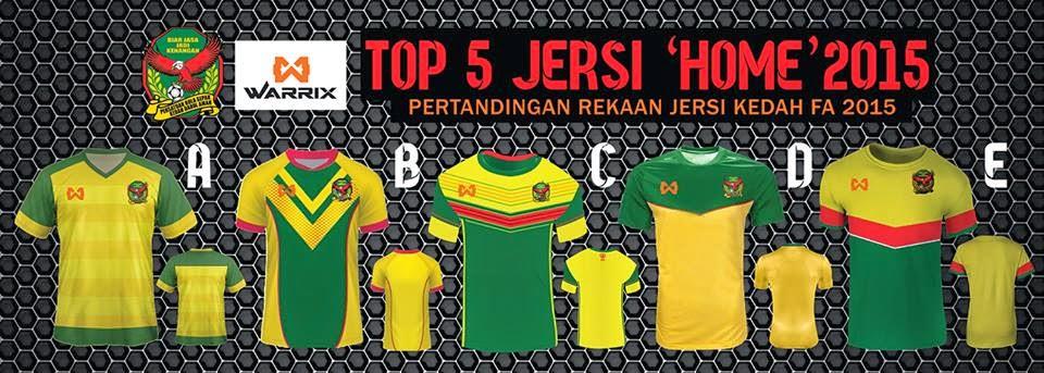 Jersi Pasukan Kedah FA 2015