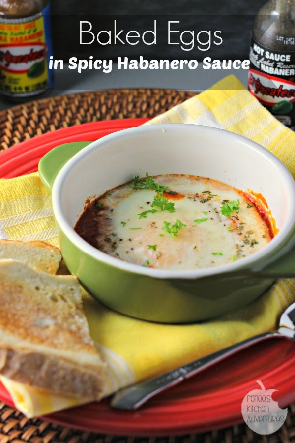 Baked Eggs in Spicy Habanero Sauce: Italy meets Mexico in this fusion baked egg recipe