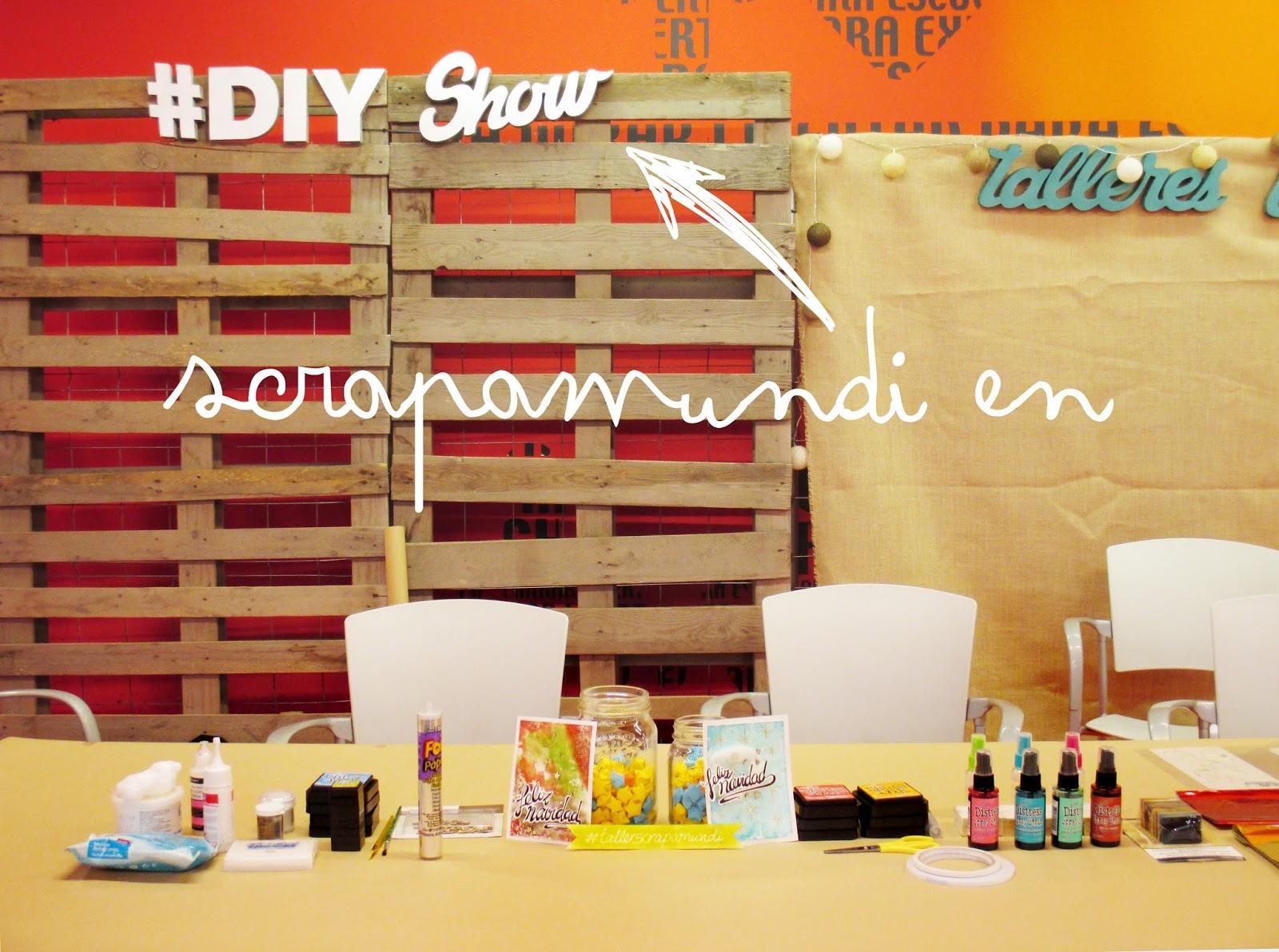 Taller de Scrapamundi en la feria Internacional DIY SHOW