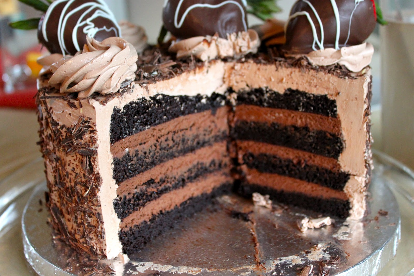 Cake With Chocolate Mousse Filling : Cafe Coco: Dark Chocolate Cake with Dark Chocolate Mousse ...