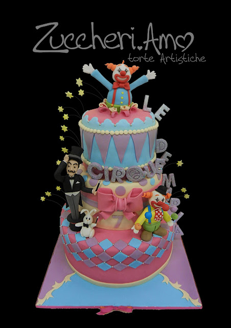 Matrimonio Tema Circo : Zuccheri amo torta circo