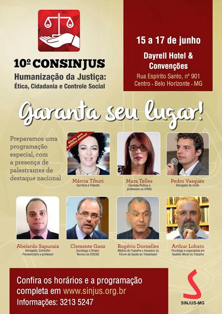 X CONSINJUS - Humanização da Justiça: Ética, Cidadania e Controle Social