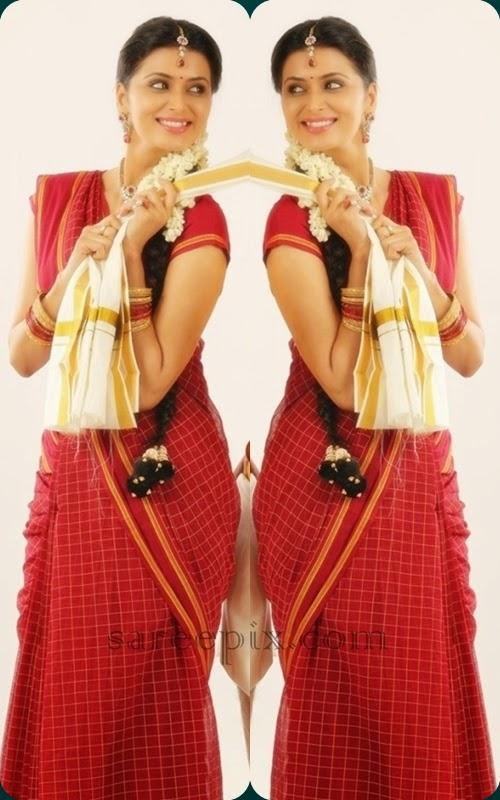 actress-Meenakshi-dixit-saree-tamil-movie