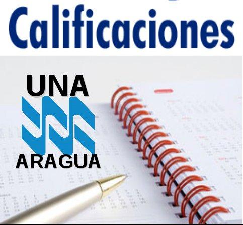 CALIFICACIONES UNA ARAGUA