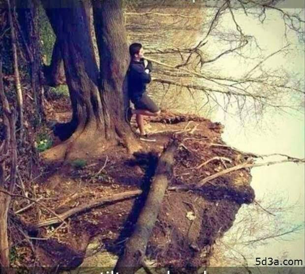 لقوي الملاحظة : ما الغريب فى صورة البحيرة والولد - خدع بصرية