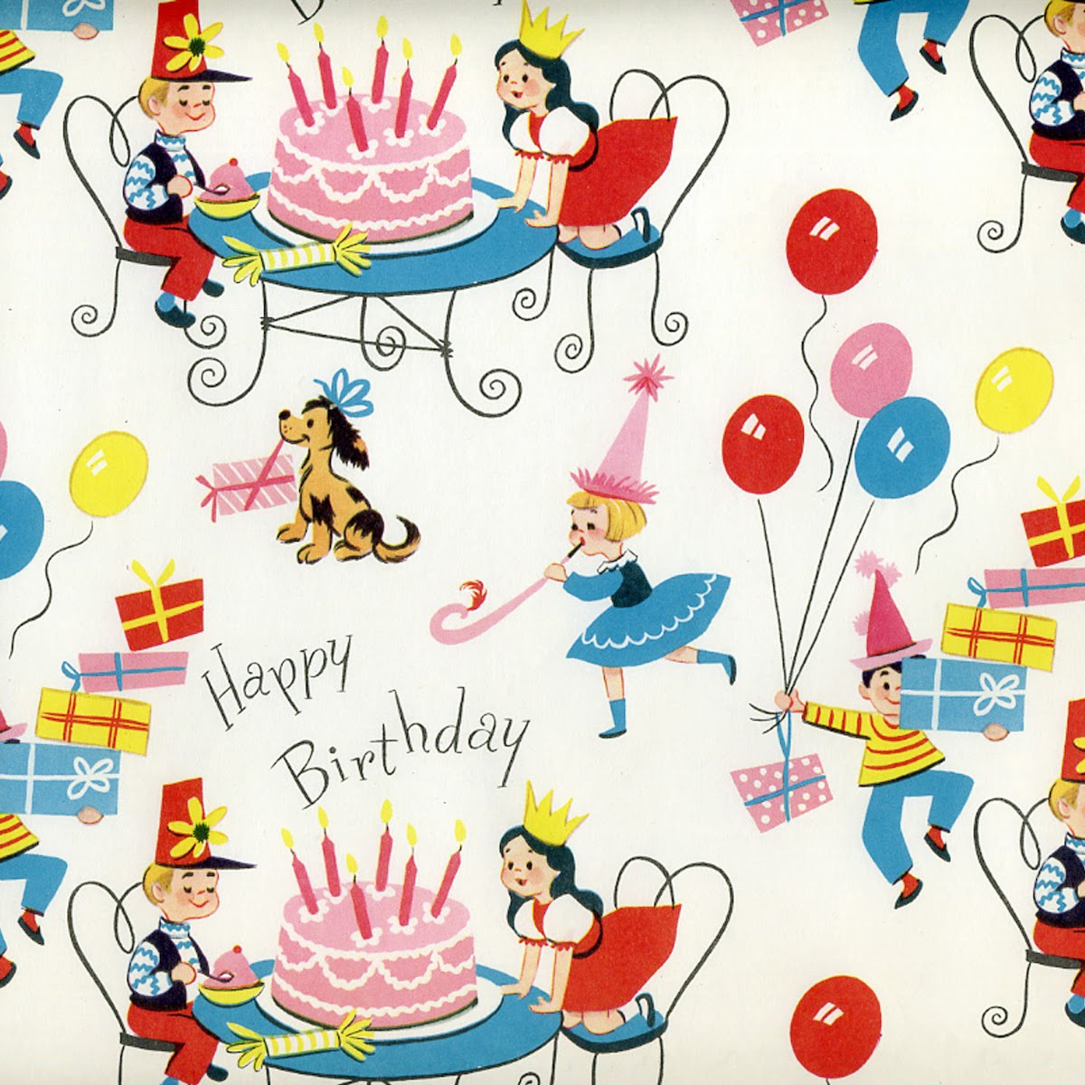 Mesmerizing image inside printable birthday wrapping paper