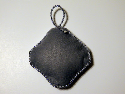 Scarlet and Gray Christmas Ornament (reverse) - backed with gray felt