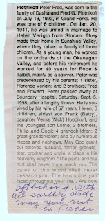 Peter Fred Plotnikoff obituary