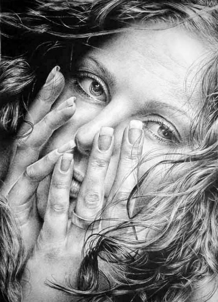 rostros-femeninos-pintados-al-lapiz