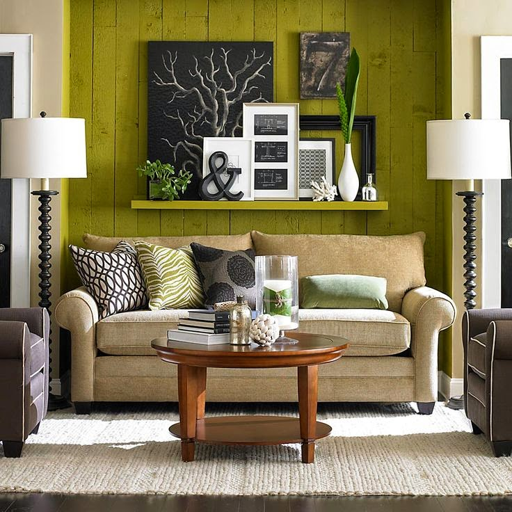 7 ideas de decoraci n de salas en verde for Objetos de decoracion modernos