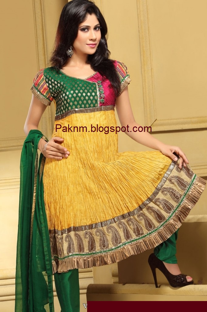 Indian-girls-churidar-dress-yellow-color-indian-formal-pishwas-dresses