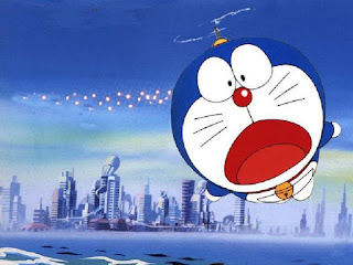 Wallpaper Doraemon Terbang High Resolution HD Android Desktop
