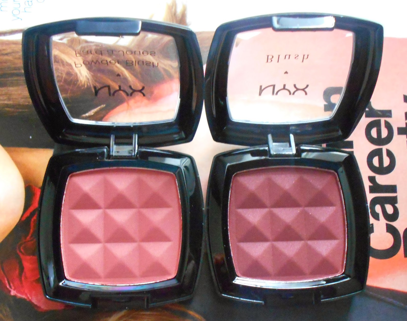 NYX Cosmetics Powder Blushes in Dusty Rose & Bordeaux! (Fall Edition!)