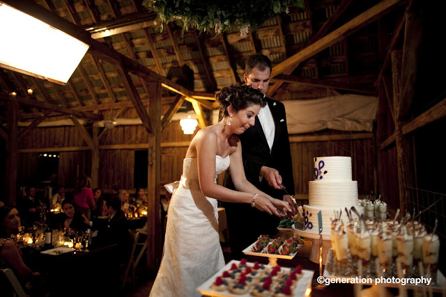 Mini Dessert Table for Enchanted Barn Wedding