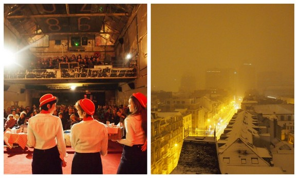Sunday matinee screening + snowclad rooftops in Brussels