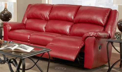 Red Leather Sleeper Sofa Sale (8 Image)