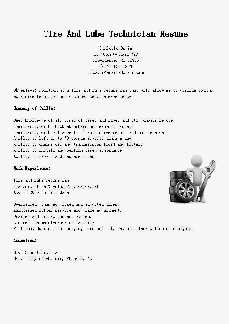 lube technician my perfect cover letter. Resume Example. Resume CV Cover Letter