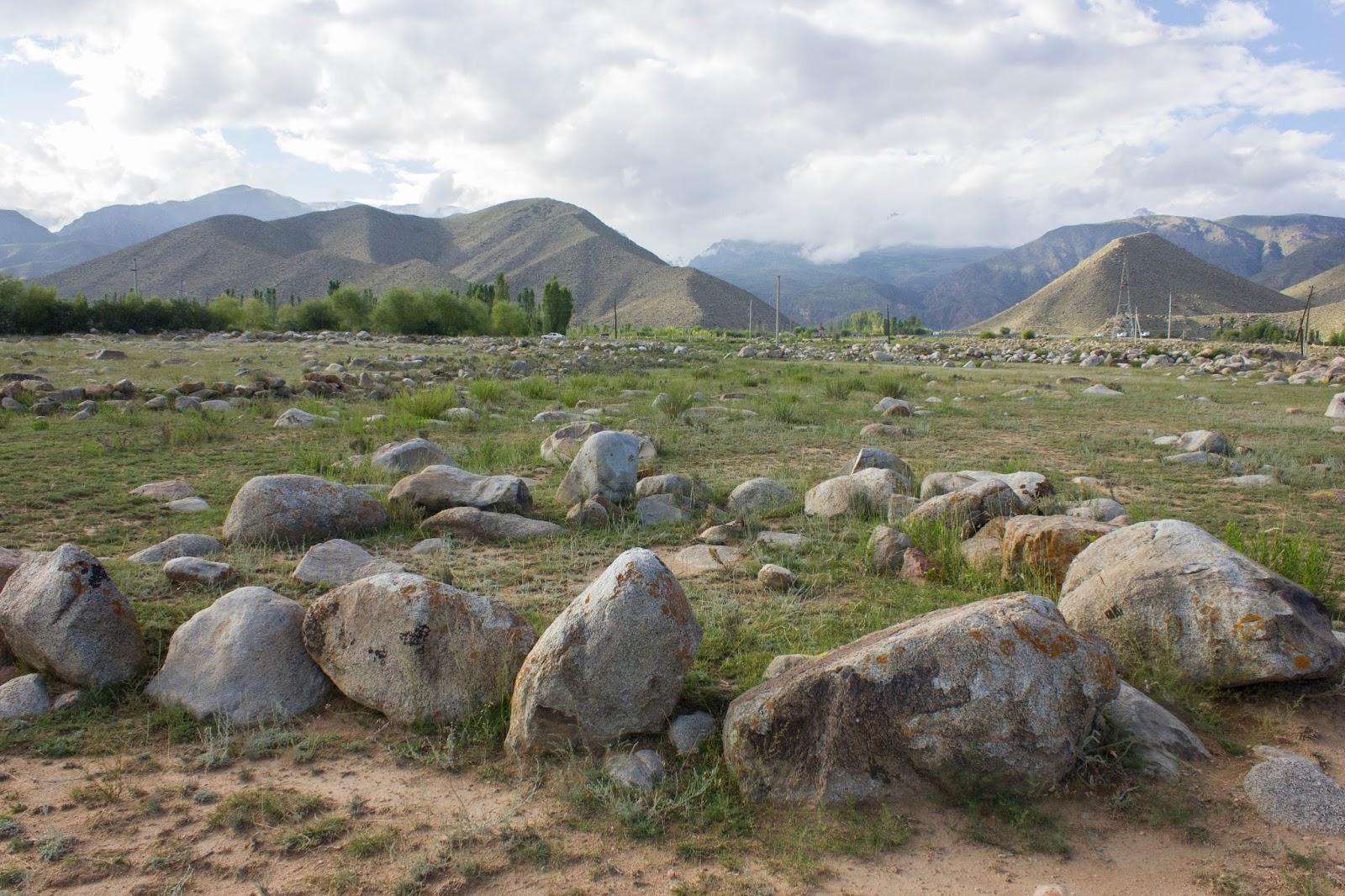 Кыргызстан, Иссык-Куль, Чолпон-Ата, петроглифы