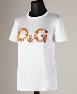 Camiseta D y G logo flores coral 2013