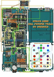 Nokia 6300 full jumper pcb