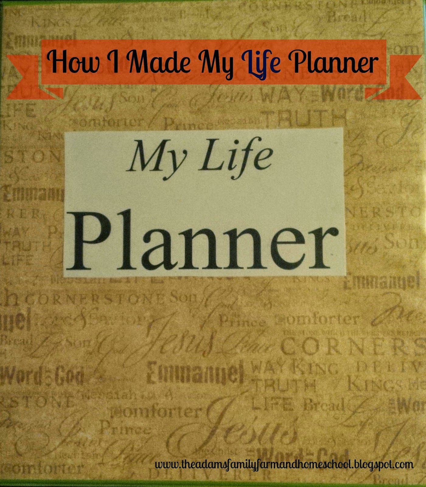 Example of My Life Planner
