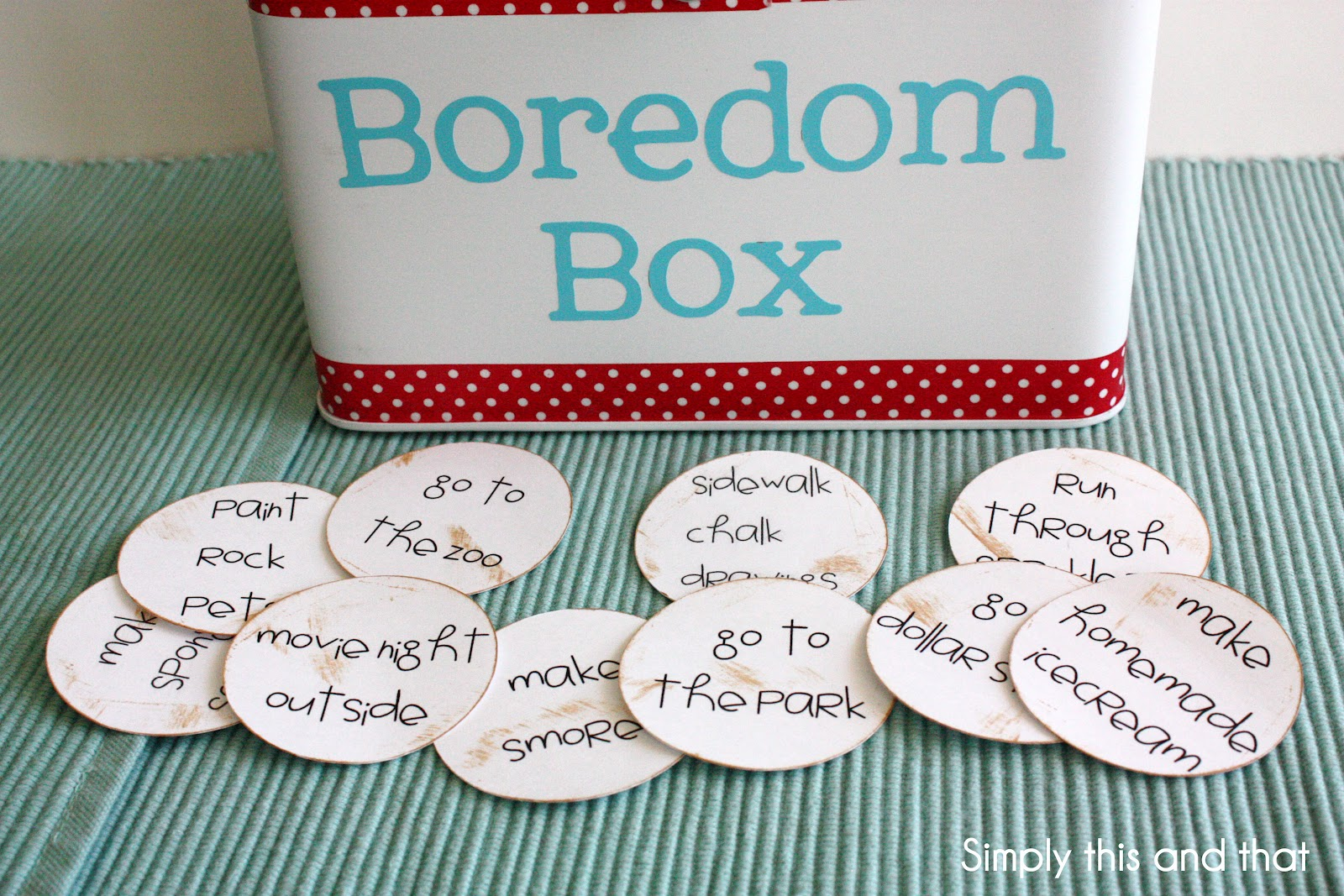 Simply This and that: Boredom Box