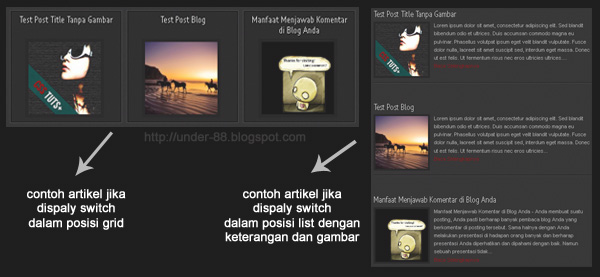 Contoh Display Grid Dan List