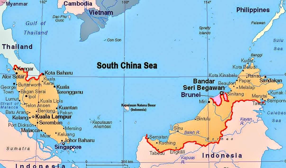 Peta Negara Malaysia - Sejarah Indonesia   Peta Dunia ...