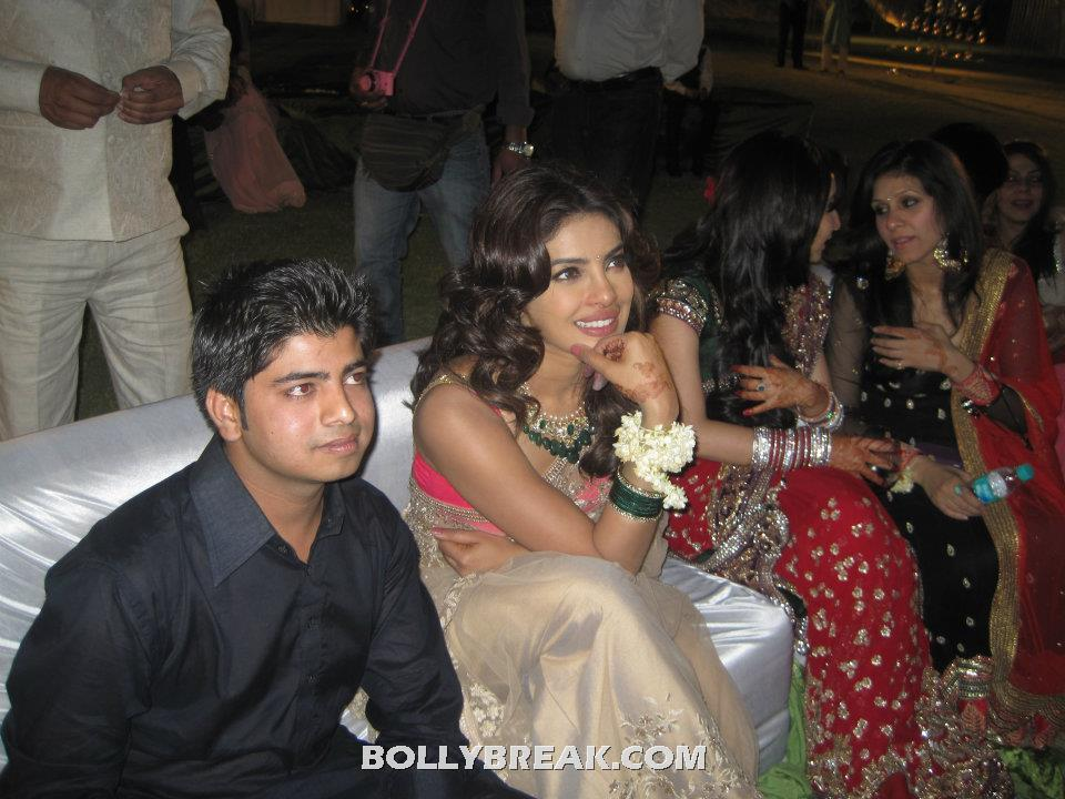 Priyanka Chopra in Manish Malhotra Saree at Wedding in Jaipur  -  Priyanka Chopra in Manish Malhotra Saree at Wedding in Jaipur - may 2012