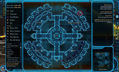 swtor starship vendor location map